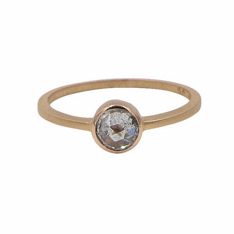Gillian Conroy 18k Rose Gold Round Grey Diamond Ring .50ct