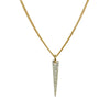 Louison Fine 14k & Pavé Diamond Spike Pendant