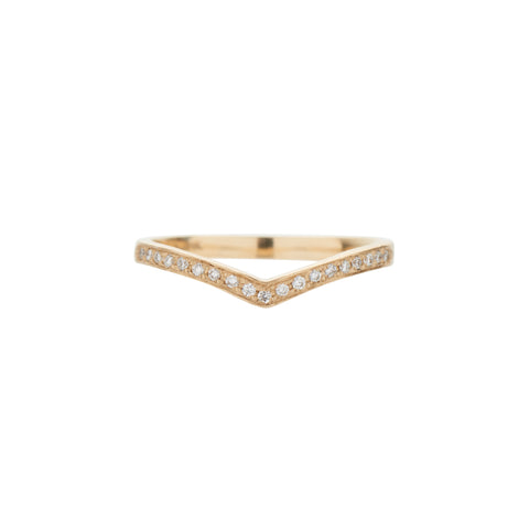 Rebecca Overmann 14k Diamond V Band