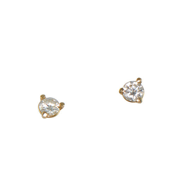 B.C.E. Jewelry 14k Three Prong 3mm Diamond Stud Earrings