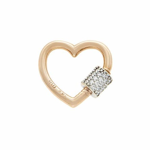 Marla Aaron 14k Diamond & Gold Baby Heart Lock