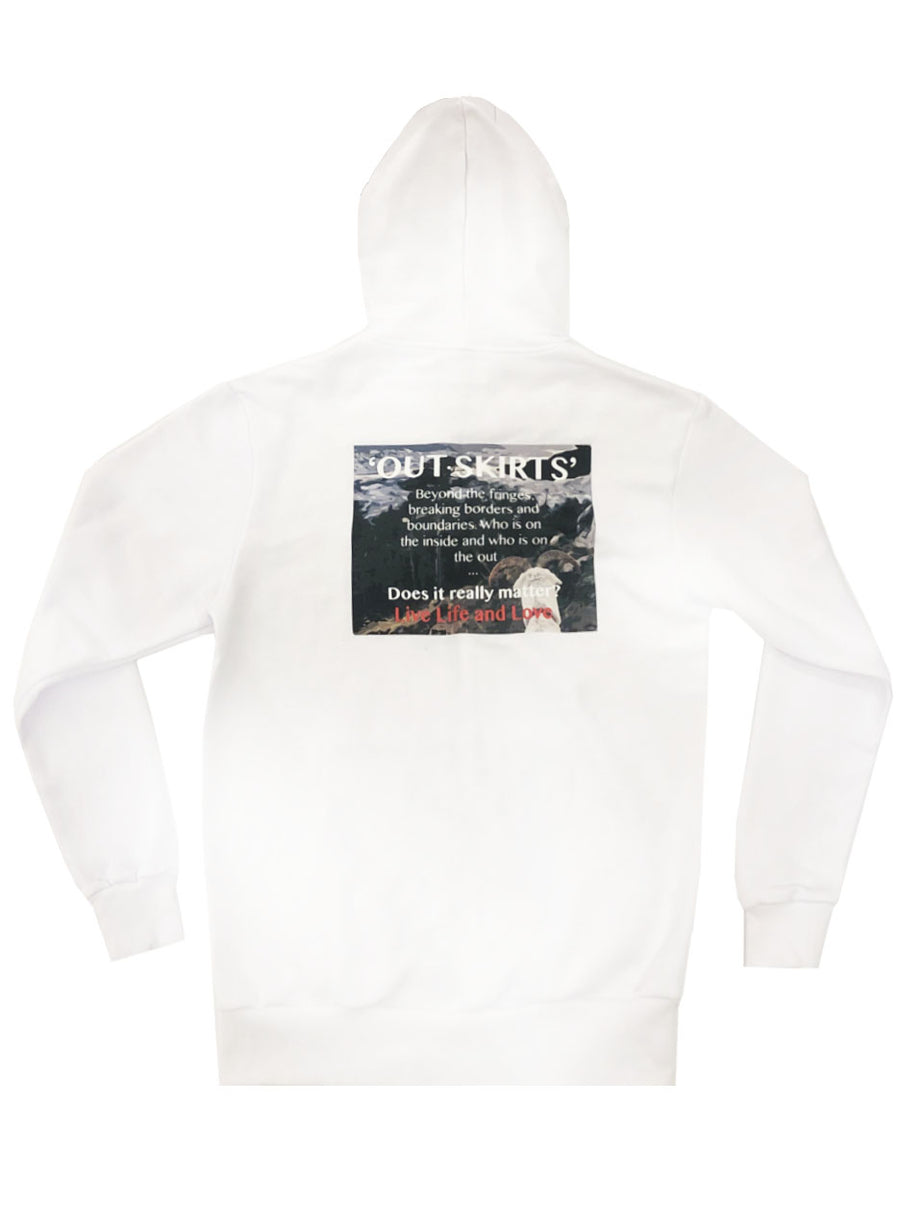 OUTSKIRT RAM PRINT SWEATSHIRT (WHITE)