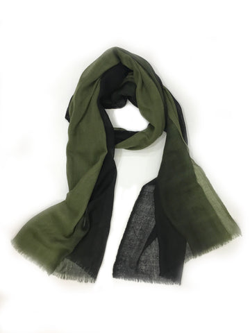 Ombre Wool Wrap Emerald/ Black