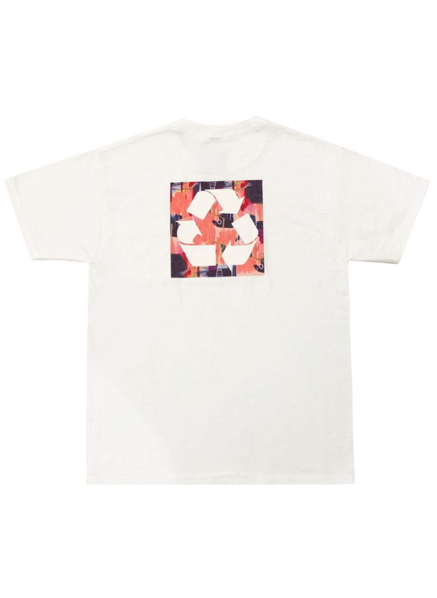 RECYCLE T-SHIRT (WHITE/ PINK)