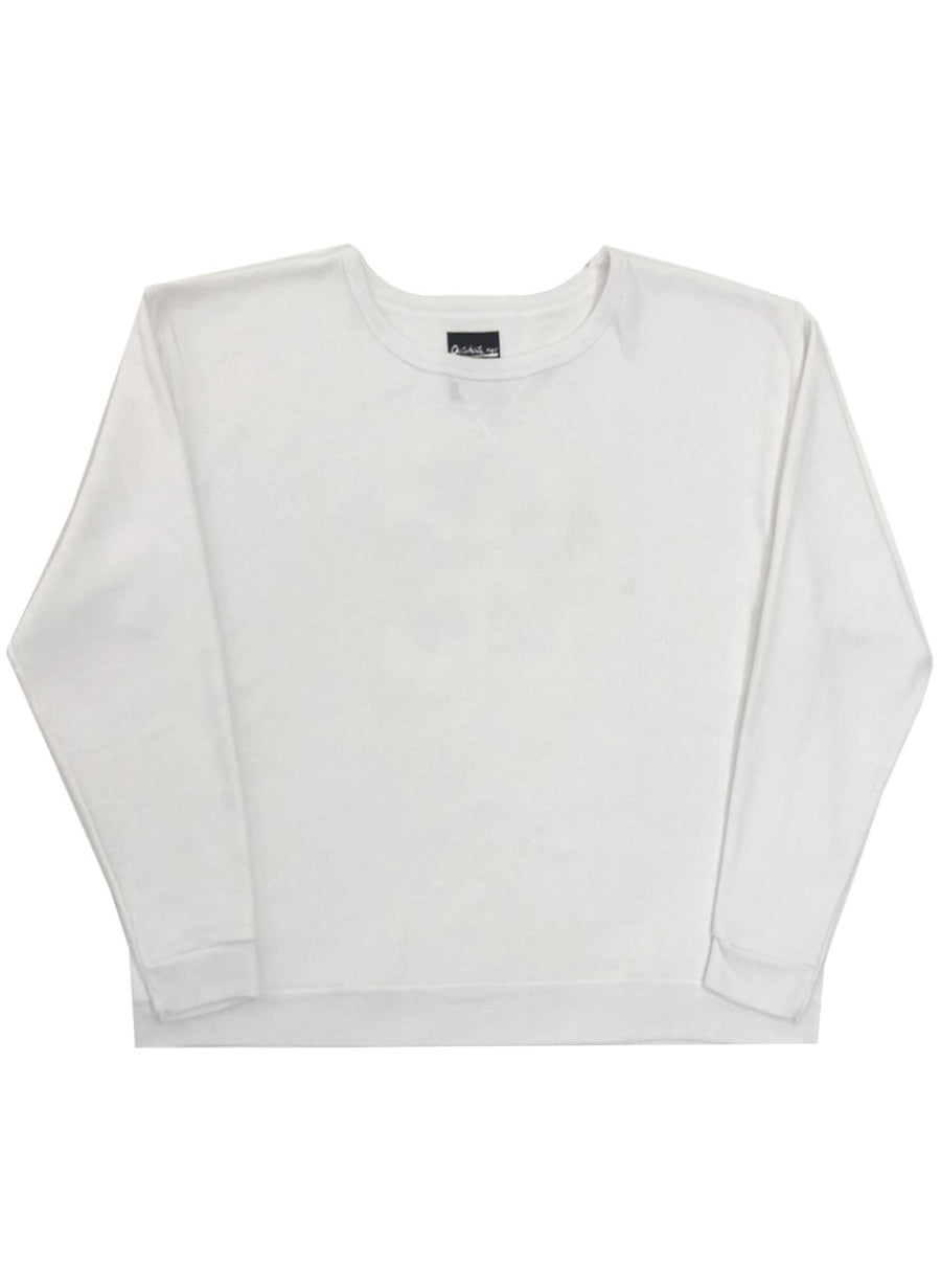 RECYCLE SWEATSHIRT (WHITE/ PINK)