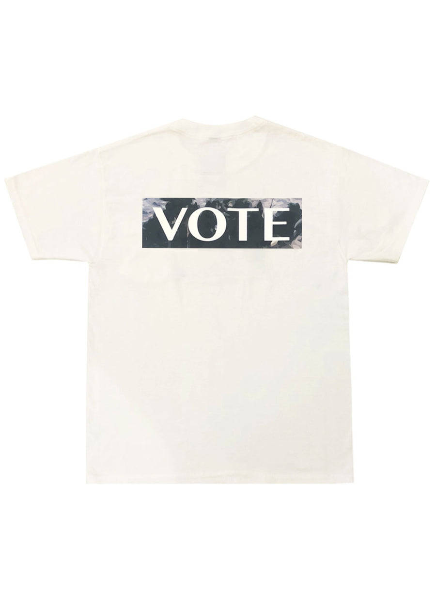 VOTE T-SHIRT (WHITE/ GREEN)