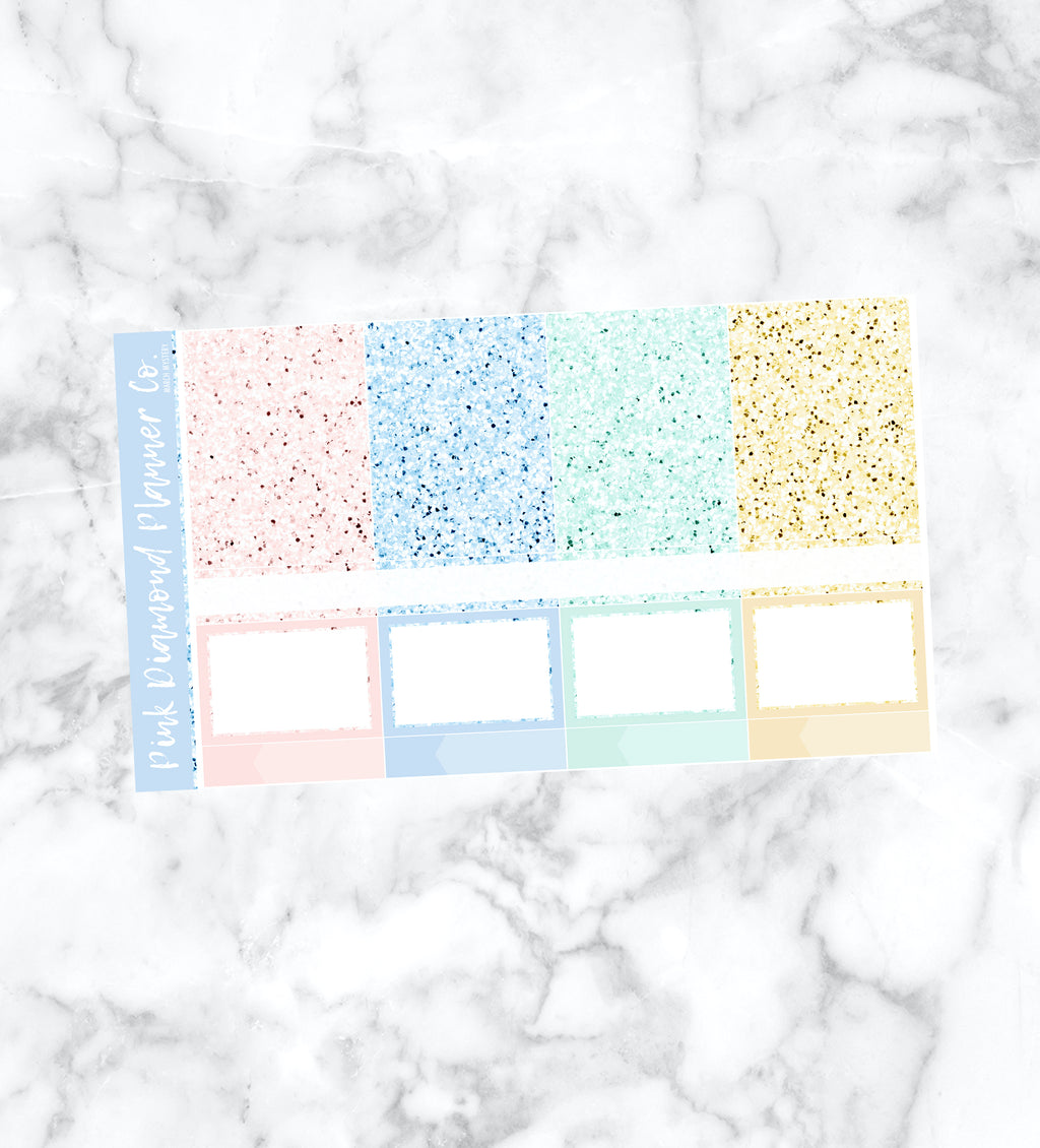 March Mystery // Glitter Header Sampler