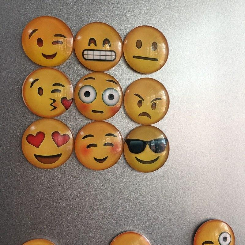 13pcs Emoji Face Refrigerator Magnets