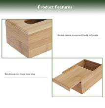 Load image into Gallery viewer, Bamboo Tissue Box