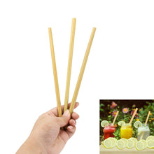 Load image into Gallery viewer, Eco-Friendly Bamboo Drinking Straws with Cleaning Brush