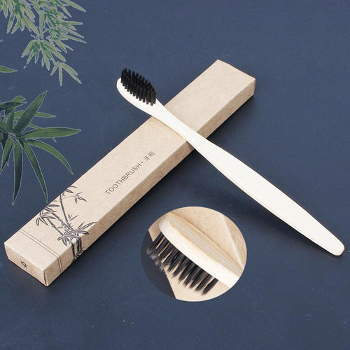 2Pcs Bamboo Toothbrush Eco-Friendly