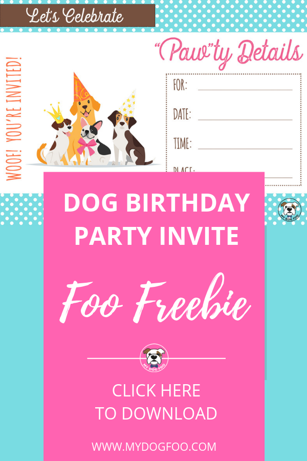 Foo Freebie:  Dog Birthday Invitation