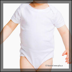 Infant Bodysuit Onesies White Front