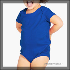 Infant Bodysuit Onesies Blue Front