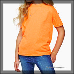Kids Regular Fit Tee Orange Front