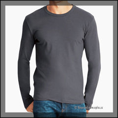 Mens Long Sleeve Crew Tee Sample