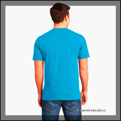 Mens Long Sleeve Crew Tee Sample Blue Back