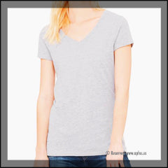 Women's Jersey Short Sleeve V-Neck Tee Grey