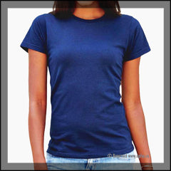 Womens Missy Tee Sample Blue Front