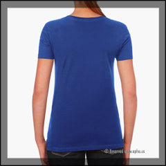 Womens Missy Tee Sample Blue Back
