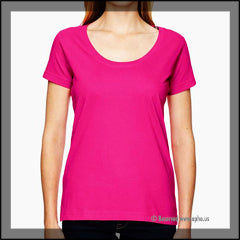 Women's Scoop Neck Sample Tee Pink