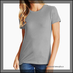 Womens Boyfriend Tee Sample Grey Front