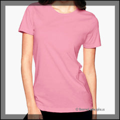 Womens Boyfriend Tee Sample Pink Front