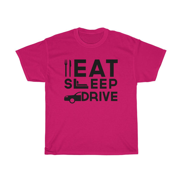Eat Sleep Drive Unisex Classic Fit T-Shirt (Light Colored) Red