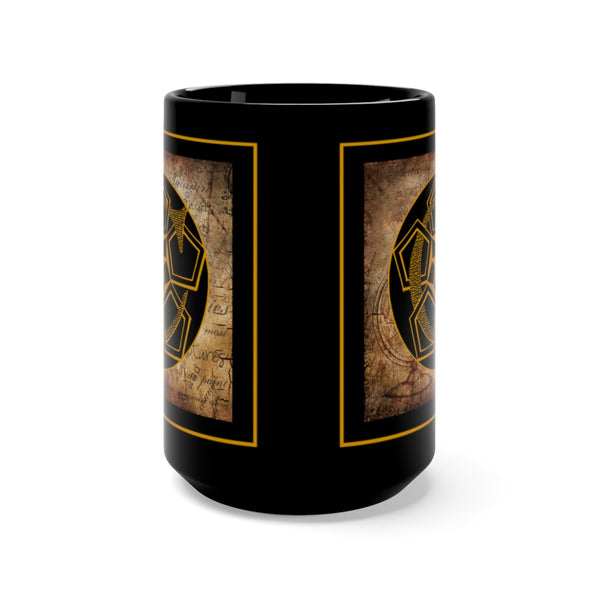 Gothic 'Alphabet C' Black Base Ceramic Mug 15oz