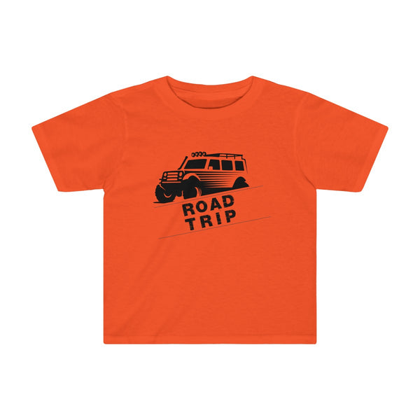 Road Trip Toddler Fitted T-Shirt Orange