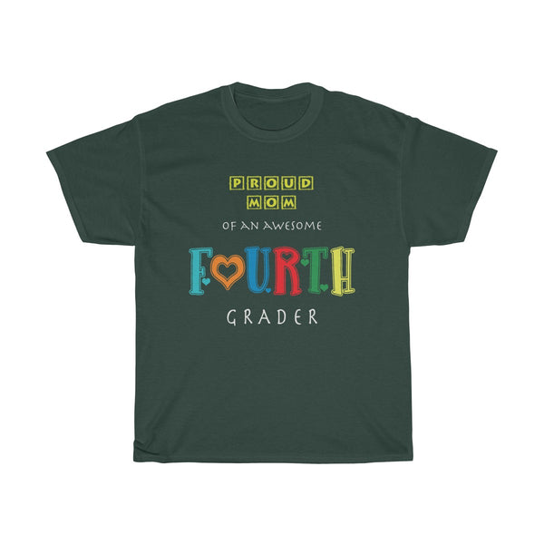 Proud Mom of Awesome Fourth Grader Unisex Classic Fit T-Shirt