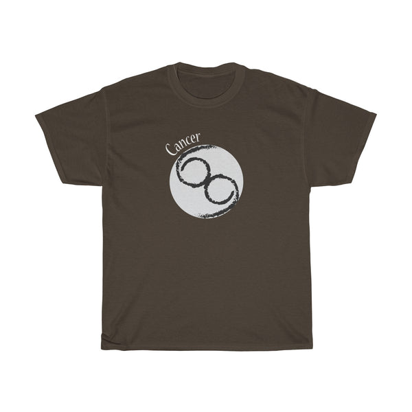 Cancer Zodiac Unisex Classic Fit T-Shirt (Dark Colors) Brown