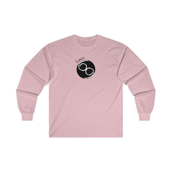 Cancer Zodiac Mens Classic Fit Long Sleeves T-Shirt Pink
