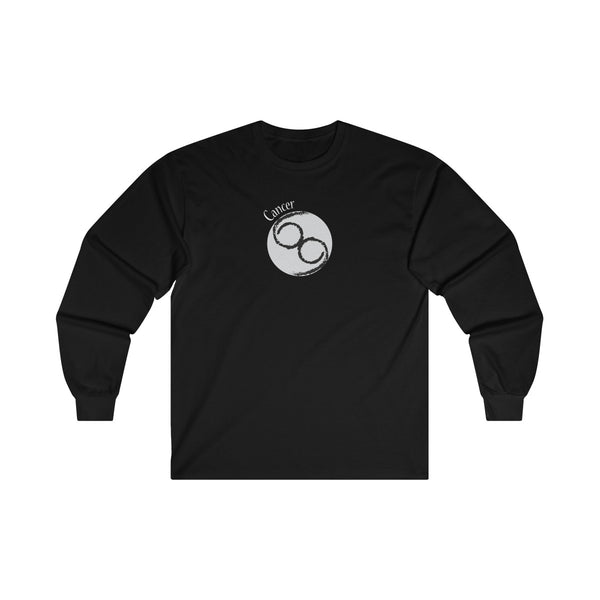 Cancer Zodiac Mens Classic Fit Long Sleeves T-Shirt Black