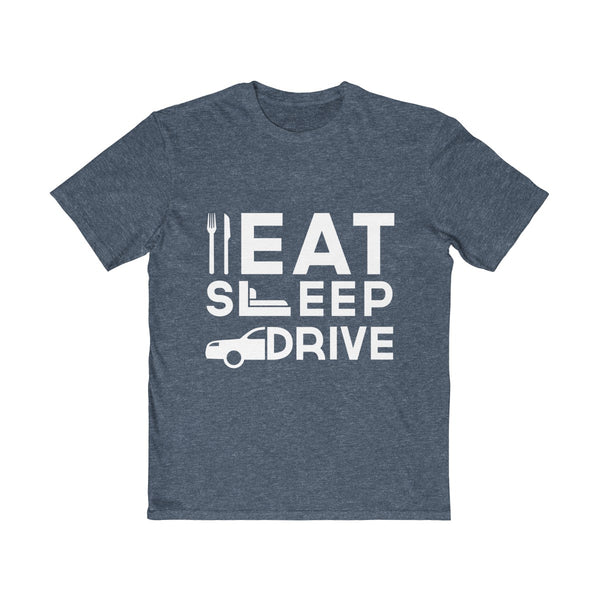 Eat Sleep Drive Mens Semi Slim Fit T-Shirt Navy