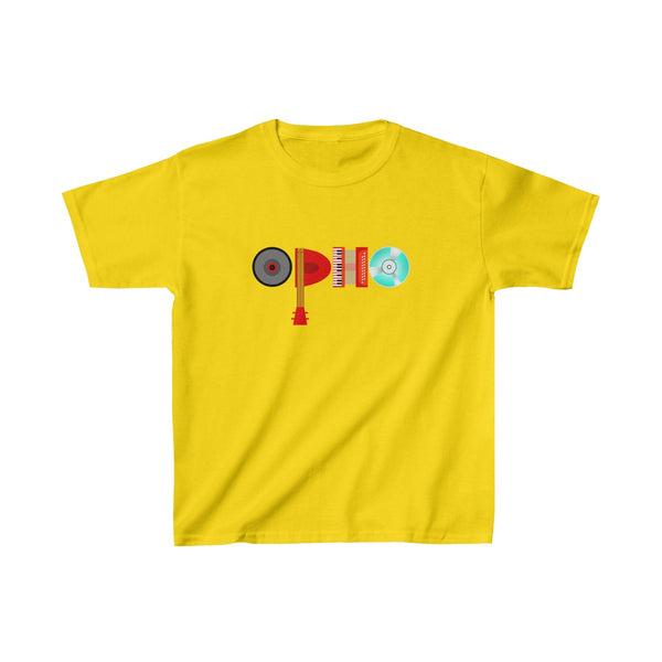 opho Musical Instruments Kids Classic Fit T-Shirt Yellow