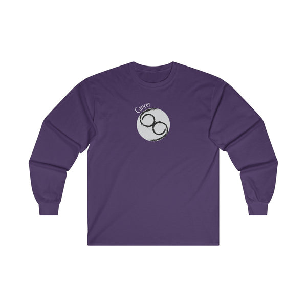 Cancer Zodiac Mens Classic Fit Long Sleeves T-Shirt Purple