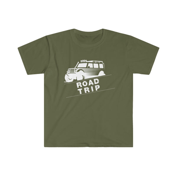 Road Trip Mens Eurofit Short Sleeve T-Shirt Green