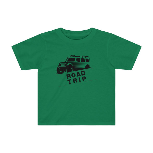 Road Trip Toddler Fitted T-Shirt Green