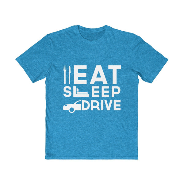 Eat Sleep Drive Mens Semi Slim Fit T-Shirt Blue