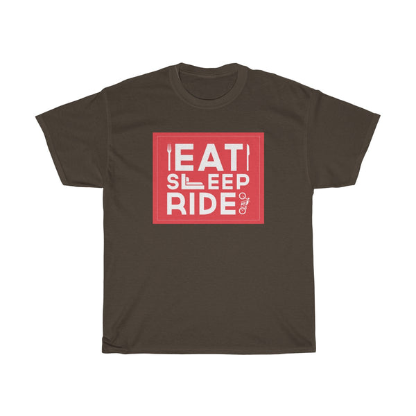 Eat Sleep Ride Unisex Classic Fit T-Shirt Brown