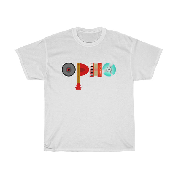 opho Musical Instruments Unisex Classic Fit T-Shirt White