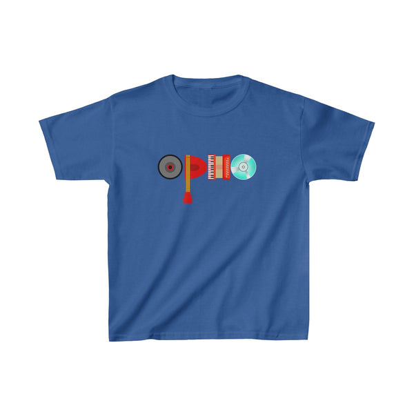opho Musical Instruments Kids Classic Fit T-Shirt Blue
