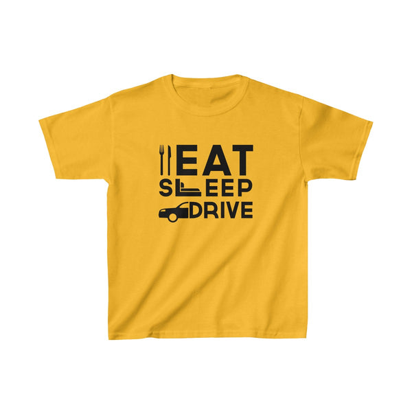Eat Sleep Drive Kids Classic Fit T-Shirt Yellow