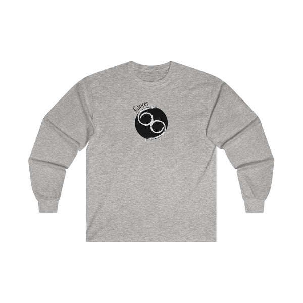 Cancer Zodiac Mens Classic Fit Long Sleeves T-Shirt Gray