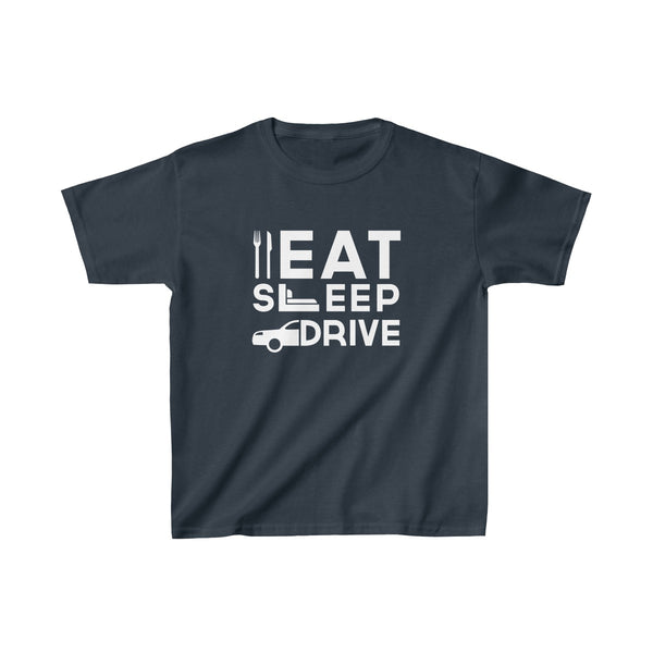 Eat Sleep Drive Kids Classic Fit T-Shirt Navy