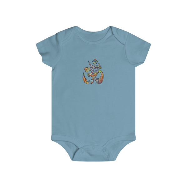 Colorful Hand Drawn Om Symbol Baby Onesies