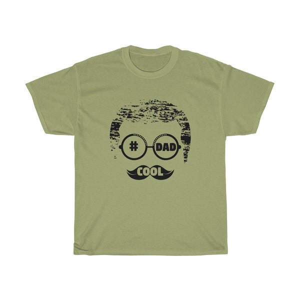Cool Dad With Faded Hair Mens Classic Fit T-Shirt (Light Colored) Green