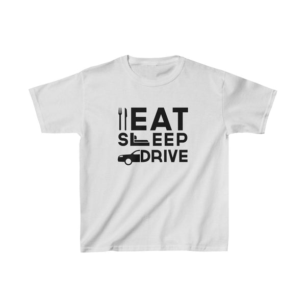 Eat Sleep Drive Kids Classic Fit T-Shirt White