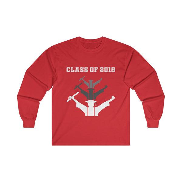 Class of 2019 Exhilarated Grads  Men's Classic Fit Long Sleeves T-Shirt Red